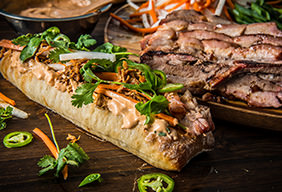 BBQ Pulled Pork and Pork Belly Bánh mì