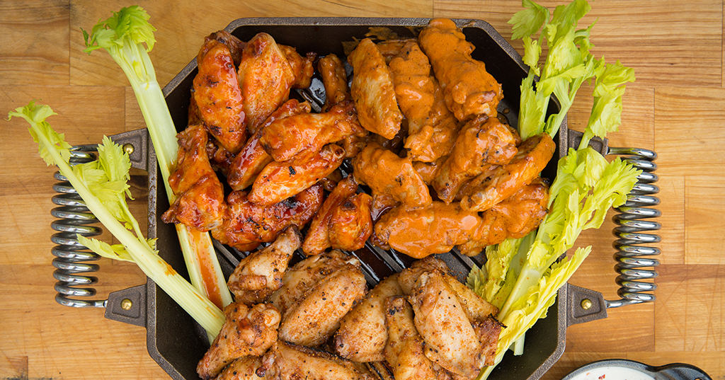 BBQ Chicken Wings 3 Ways