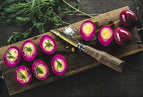 Smoked Beet-Pickled Eggs