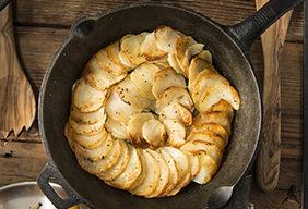 Skillet Baked Potato Cake