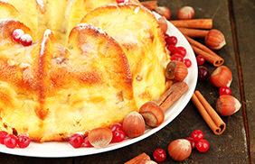Applesauce Cranberry Spice Cake