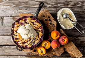 Baked Peach & Blueberry Pandowdy