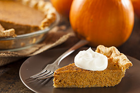 Pumpkin Pie With Bourbon Whip Cream