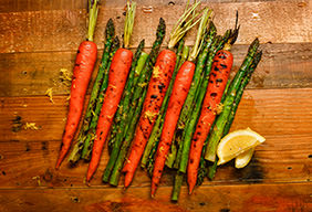 Asparagus & Honey Glazed Carrots