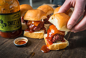 BBQ Boar & Venison Meatball Sliders