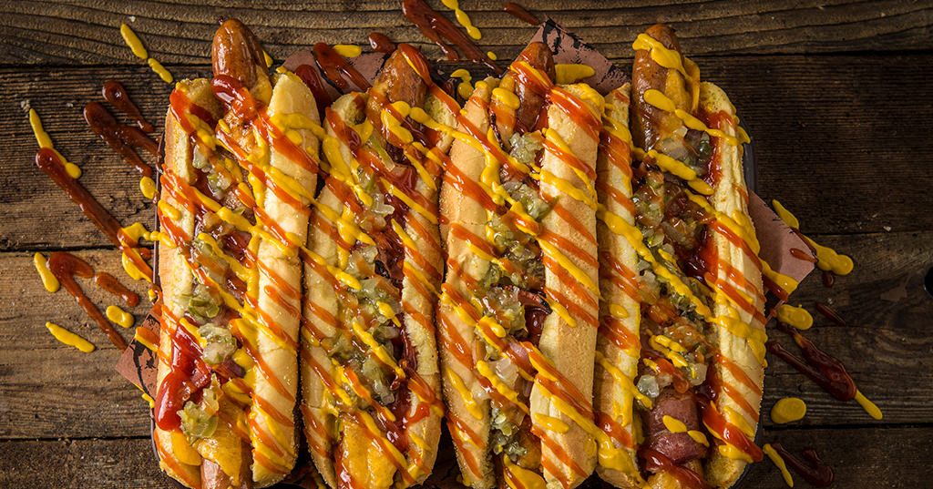 Grilled Bacon-Wrapped Hot Dogs