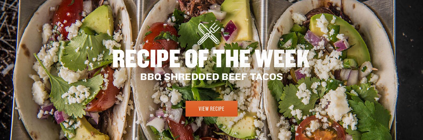 BBQ Shredded Beef Tacos