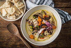 Smoked Hummus with Roasted Vegetables