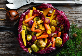 Roasted Garden Vegetables with Vinaigrette