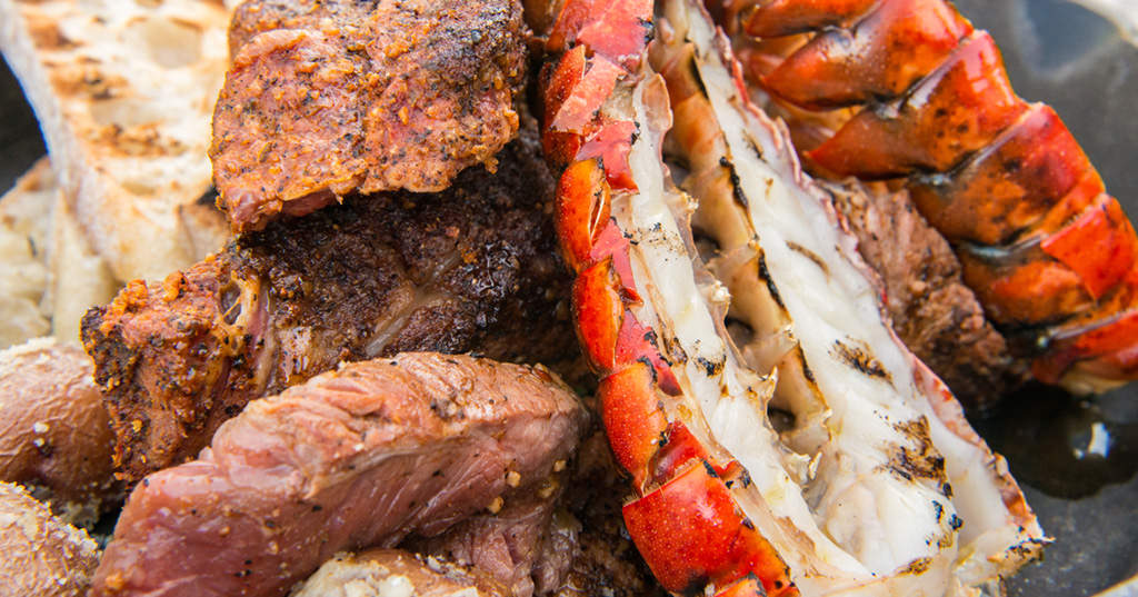 Turf N Surf >> Reverse Sear Rib Eye Steak with Lobster | Traeger Wood Fired Grills