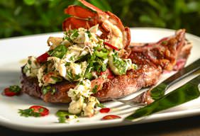 Sweetheart Steak with Lobster Ceviche