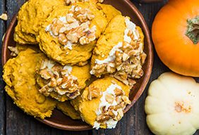 Walnut Pumpkin Cookies