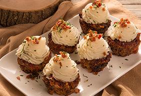 Meatloaf Cupcake Bites