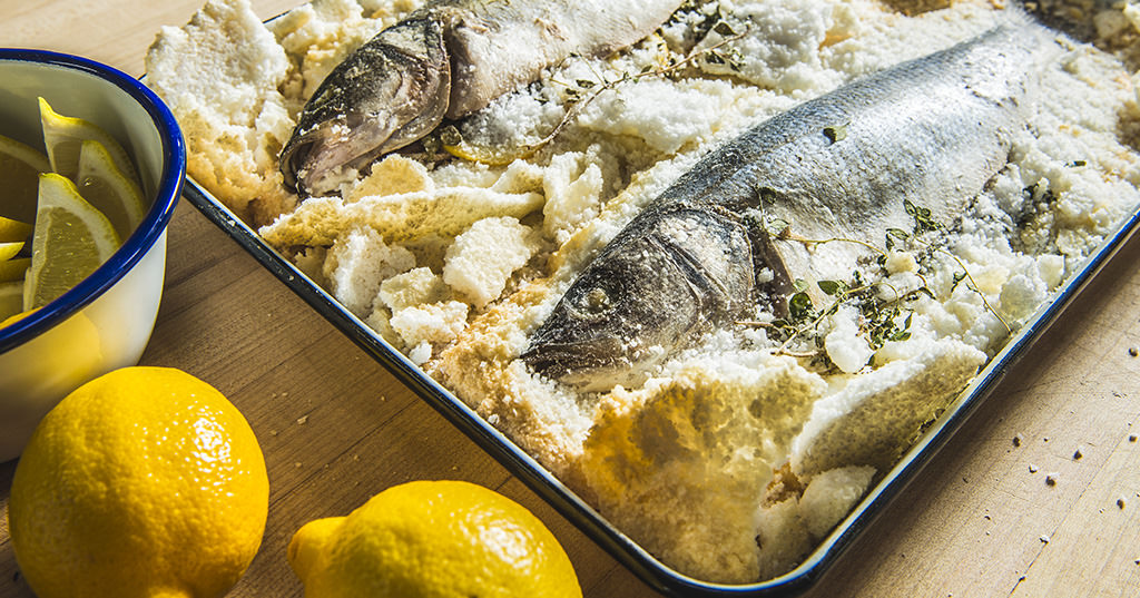 Baked whole fish in sea salt recipe traeger wood fired for Whole 30 fish recipes