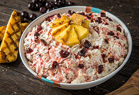 Grilled Ambrosia Salad with Marshmallow Cream