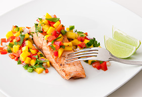 Cedar-Plank Salmon with Mango Salsa Recipe