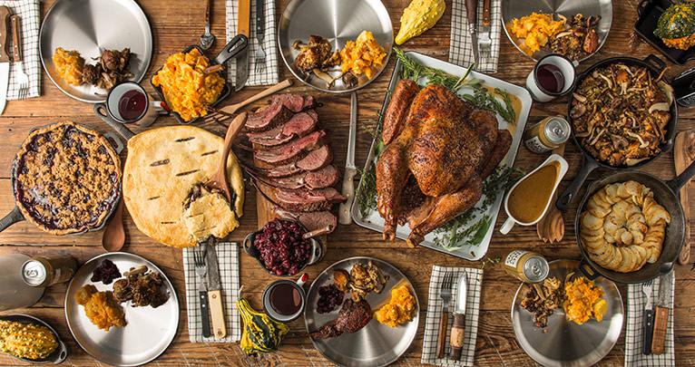 Thanksgiving Dinner Outdoors Menu