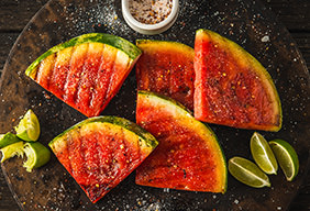 Grilled Watermelon with Lime & Smoked Chili Salt