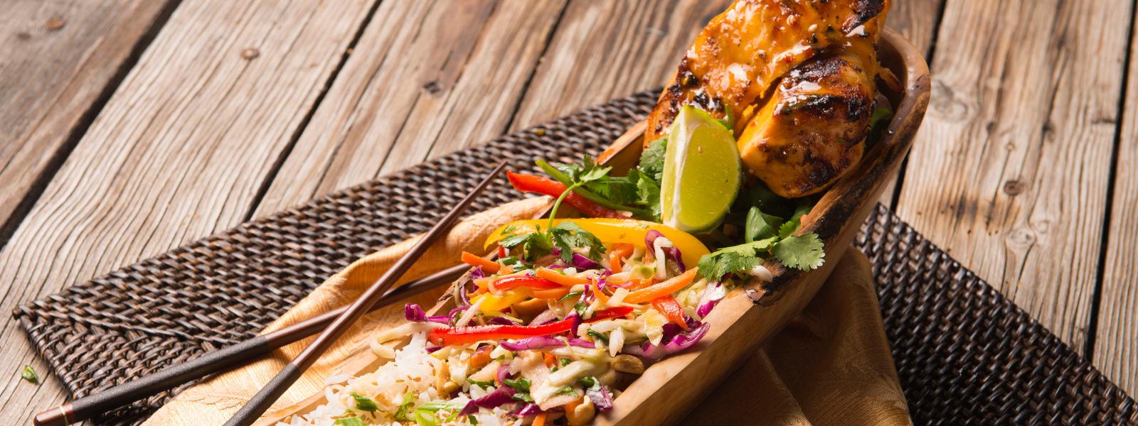 Malibu salad with smoked chicken: a recipe with photos 9