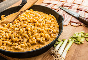 Bacon Weave Mac 'n Cheese