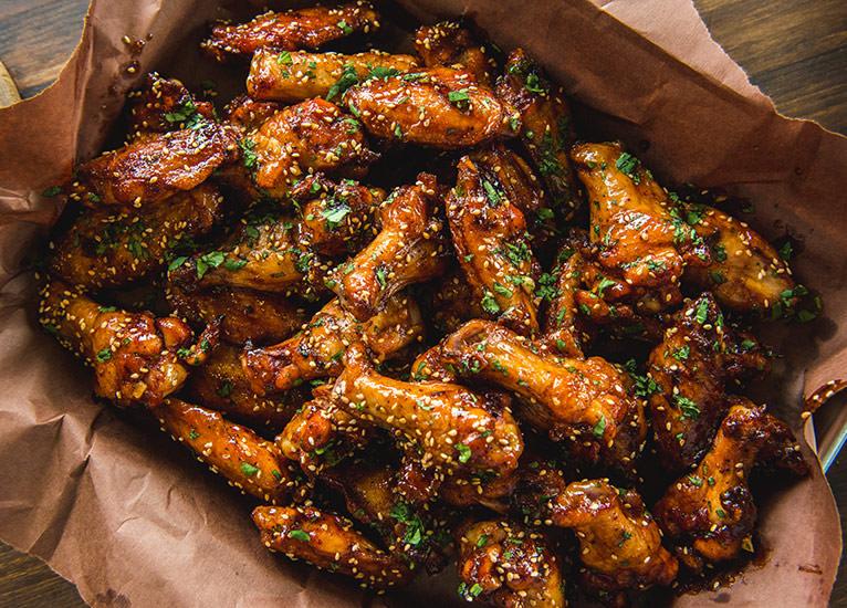 Saucy Sriracha Chicken Wings