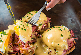 Chipotle Eggs Benedict with Pulled Pork