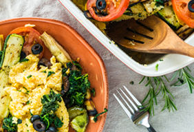 Polenta with Roast Vegetables