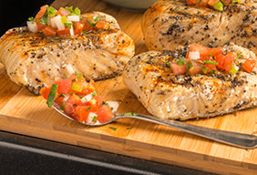 Jamaican Jerk Halibut With Pico de Gallo