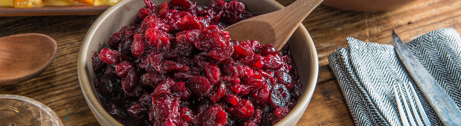 Roasted Cranberry Sauce with Red Wine & Cinnamon