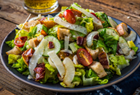 Roasted Onion Bacon & Tomato Salad