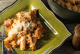 Baked Ziti with Bacon & Sausage