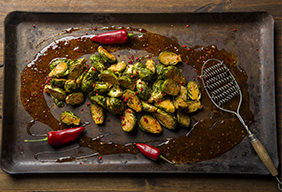 Spicy Asian Brussel Sprouts