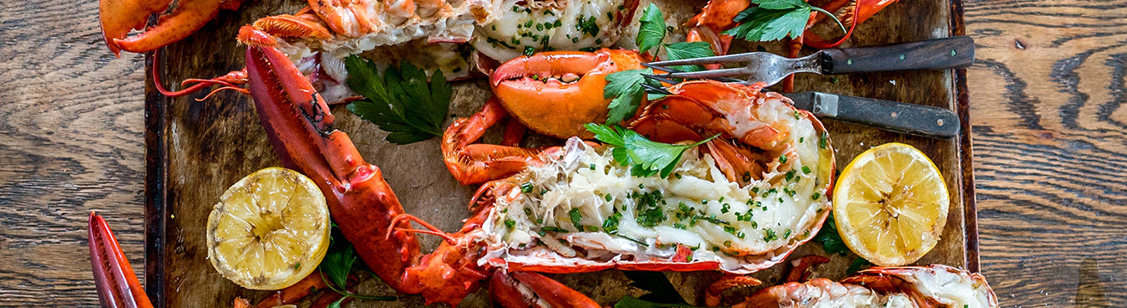 Grilled Lobster with Lemon Garlic Butter by Dennis The Prescott