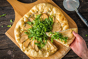 Grilled Pear and Gorgonzola Flatbread