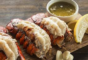 Valentine's Day Pecan Grilled Lobster Tails