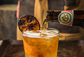 Honey Glazed Grapefruit Shandy Cocktail
