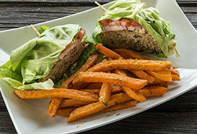 Asian Lettuce Wrap Turkey Burger