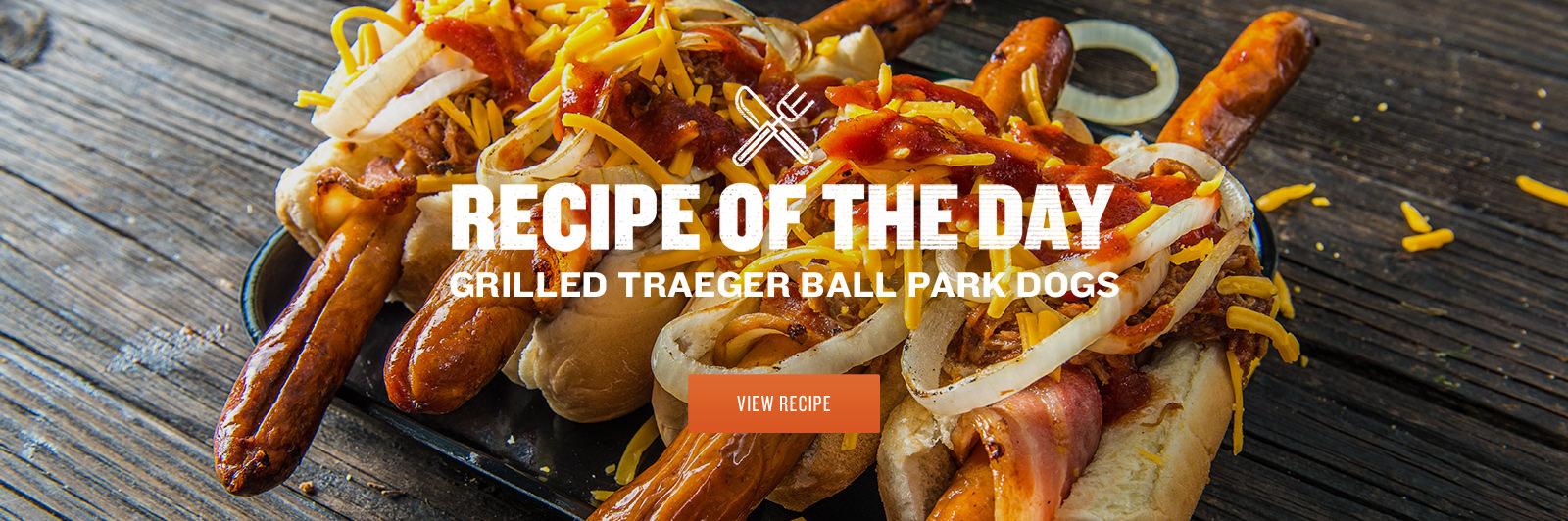 Grilled Traeger Ball Park Dog