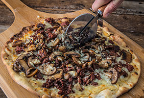 Grilled Wild Boar Sausage Pizza