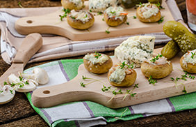 Artichoke Parmesan Stuffed Mushrooms