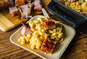 Baked Pork Belly Mac and Cheese
