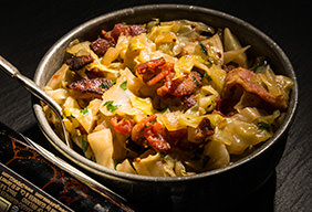 Beer-Braised Cabbage with Bacon