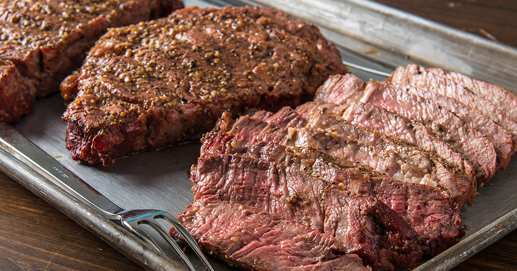 Grilled Rib-Eye Steaks by Doug Scheiding