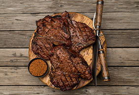 Grilled Butter Basted Porterhouse Steak