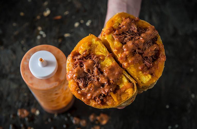 BBQ Pulled Pork Breakfast Burrito