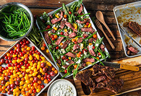 Grilled Steak Salad by @FeedMeDearly