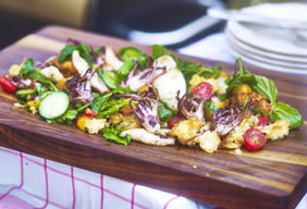 Grilled Calamari Panzanella by Chef Tyler Florence