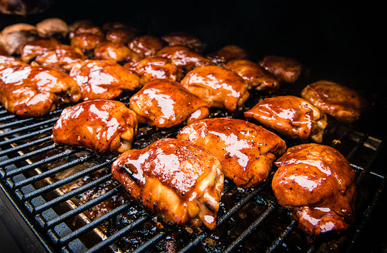 Competition BBQ Chicken Thighs