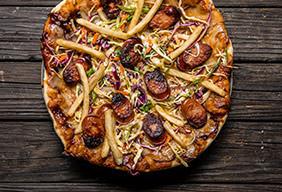 Grilled Polish Boy Pizza