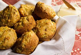 Bacon Scallion Corn Muffins